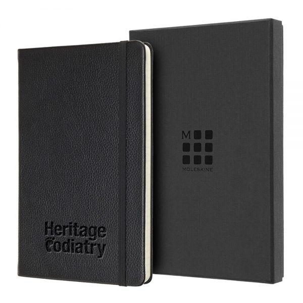 Moleskine® Large Leather Notebook - Ruled - G35056R