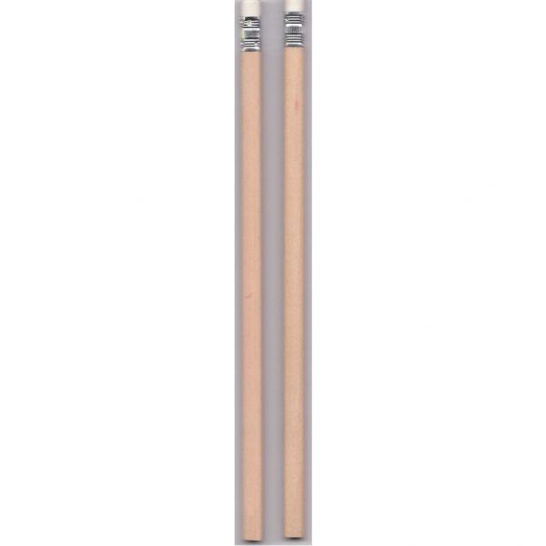 2B Pencils Unsharpened with Eraser