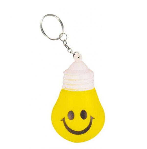 Stress Lighting Bulb Key Ring
