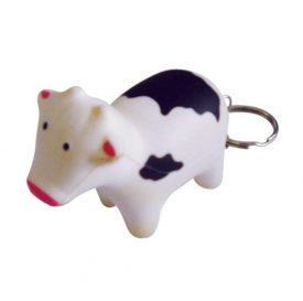 Stress Cow Key Ring