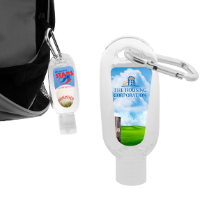 H-312 60ml Hand Sanitiser Gel with Carabiner
