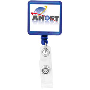 Square Retractable Badge Holder K-303