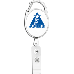 Retractable Badge Holder w/ Carabiner Clip K-306