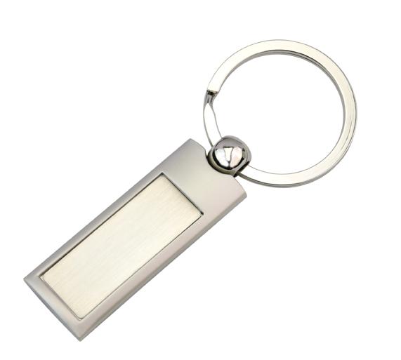 KRS004 Silver Panel Key Ring