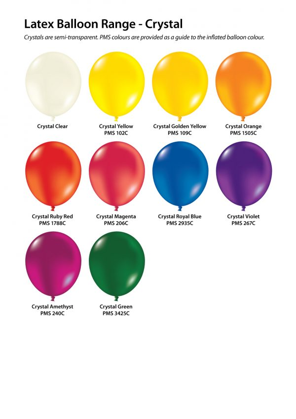 30cm Crystal Balloons Custom Printed