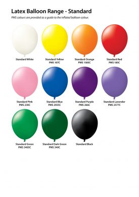 30cm Plain Printed Standard Balloons