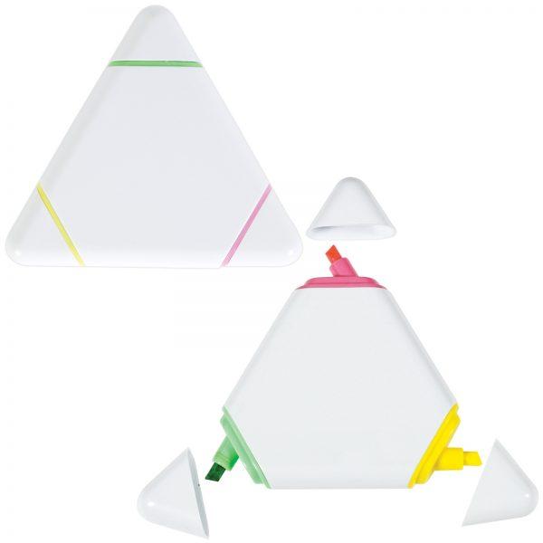 White Triangular Highlight Marker