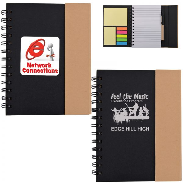 LL0946 Trek Recyclable Notebook / Noteflags / Pen