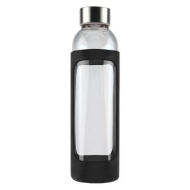 Capri Glass Bottle with Silicone Sleeve - 570ml Black