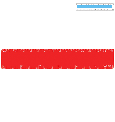 Plastic Ruler 15cm LL14