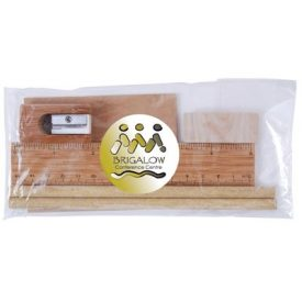 LL2134 Bamboo Stationery Set in Cello Bag