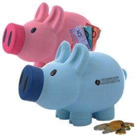 LL240 Priscilla (Pink) / Patrick (Blue) Pig Coin Bank