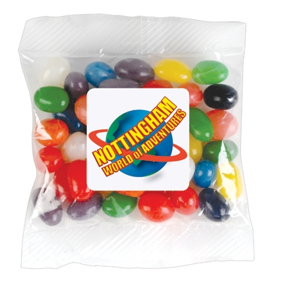 LL31470 Assorted Colour Jelly Beans In 50 Gram Cello Bag