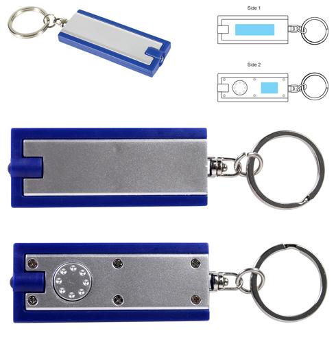 Rectangular Flashlight Keytag LL470