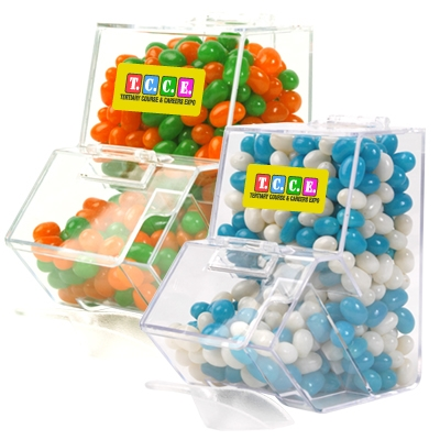Corporate Colour Jelly Beans In Dispenser LL4872