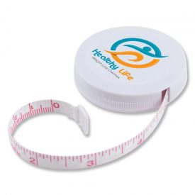 Promotional White Styleline Tape Measure LL496