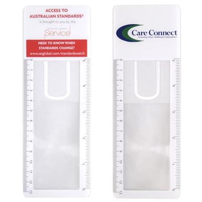 LL678 Clear Bookmark Magnifier Ruler LL678