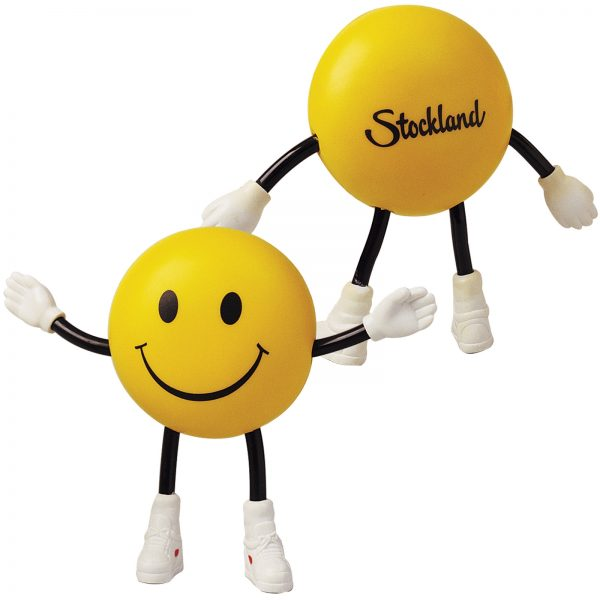 Smile Guy with Bendy Arms & Legs Stress Reliever LL800