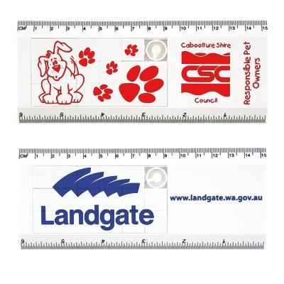 LL891 White Sliding Tile Ruler Puzzle