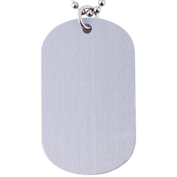 LN38 Epoxy Domed Dog Tag Keychain