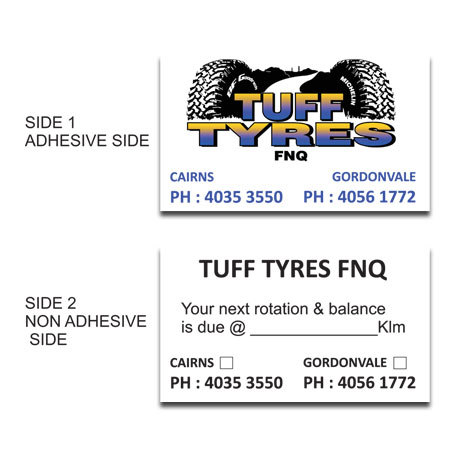 LL1 Lube Labels