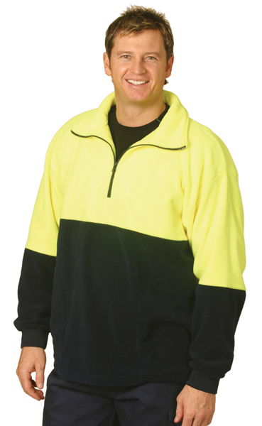 SW07 High Visibility Half Zip Pullover