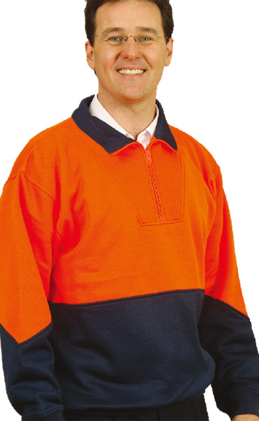 SW13A High Visibility Long Sleeve Fleecy Sweat