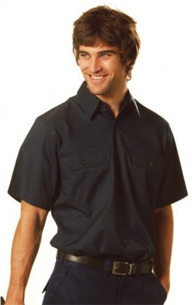 WT04 Cotton Drill Long Sleeve Work Shirt