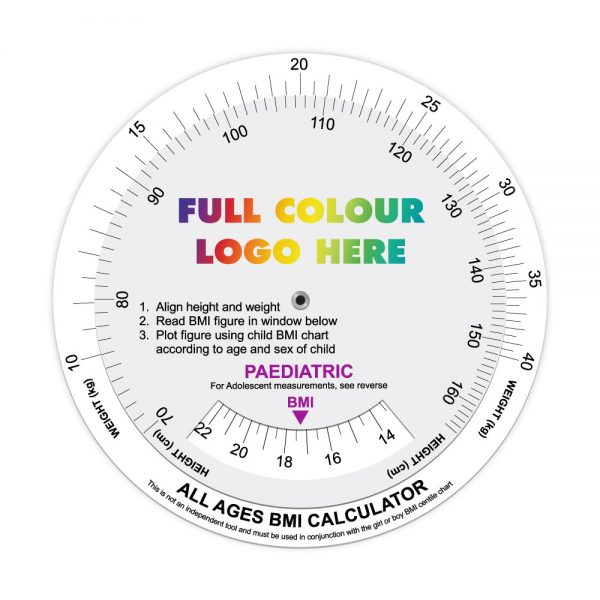 Printed All Agges BMI Calculator Data Disc