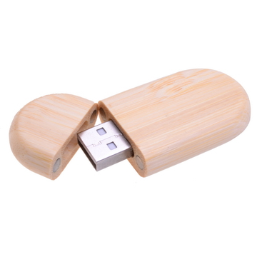 Oblong Wood Flash Drive PCUW2