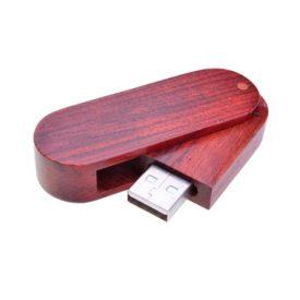 Swivel Wooden Flash Drive PCUW3