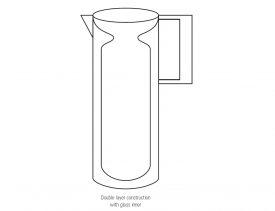 Stainless Steel Vacuum Jug 1lt  R0104
