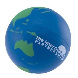 Printed Stress Earth Ball, Blue Green  - S3002
