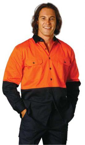 SW57 Hi-Vis Two Tone Cool-Breeze Short Sleeve Cotton Work Shirt