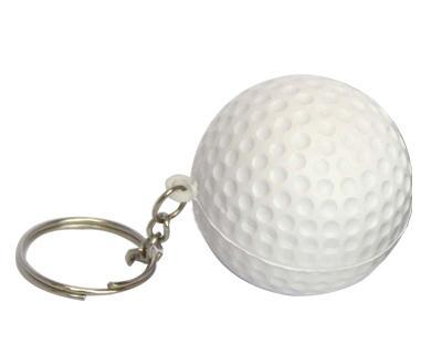 Stress Golf Ball Key Ring