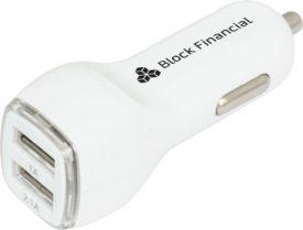 Printed Dual USB Car Charger  - TE2509