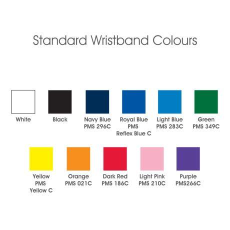 WR008 Embossed (Raised Image) Wristbands