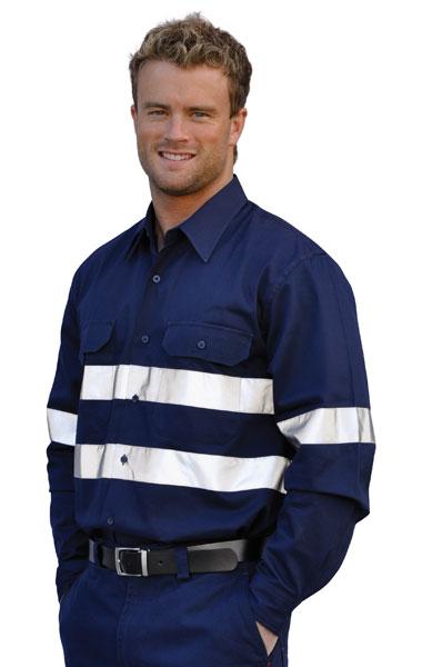 WT04HV Cotton Drill Long Sleeve Work Shirt