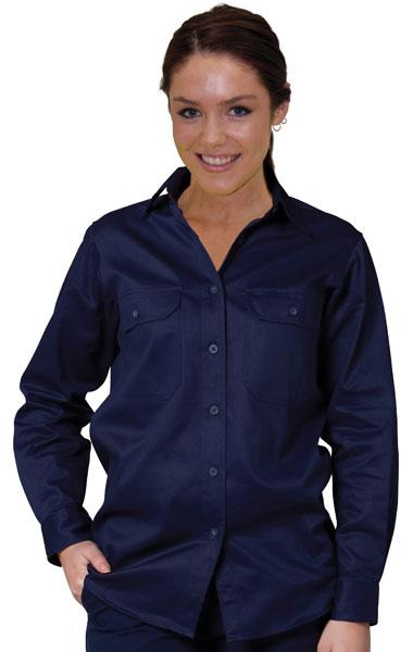 WT08 Ladies' Cotton Drill Work Shirt