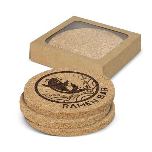 Oakridge Cork Coaster Round Set of 4 - 113033