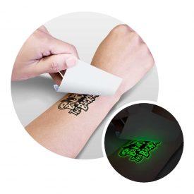 Temporary Tattoo Glow in the Dark - 51mm x 76mm - 113186