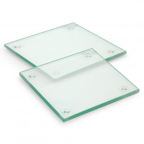 Venice Glass Coaster Set of 2 Square - Full Colour - 120164