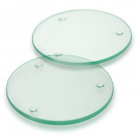 Venice Glass Coaster Set of 2 Round - Full Colour - 120165
