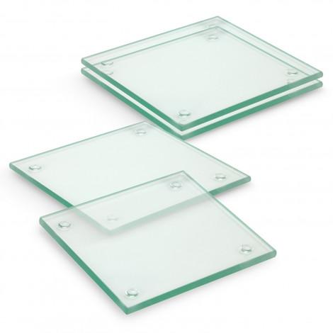 Venice Glass Coaster Set of 4 Square - Full Colour - 120166